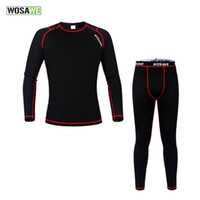 Wholesale Men Under Underwear - New Men Sport Under Wear Thermal Fleece Base Layer Sport Clothing Cycling Bike Long Sleeve Underwear Winter Running Tights H2077