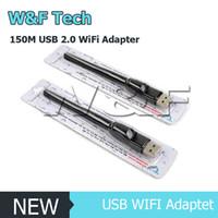 беспроводная антенна b g n оптовых-Ralink RT5370 150M USB 2.0 WiFi беспроводная сетевая карта 802.11 b/g/n LAN адаптер с вращающейся антенной и розничной упаковке