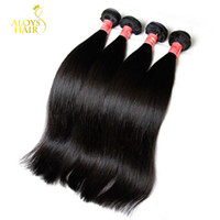 Wholesale Thick 22 Hair Extensions - Peruvian Malaysian Indian Brazilian Straight Virgin Human Hair Weave Bundles Unprocessed Remy Human Hair Extensions Natural Color Thick Soft