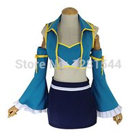 Wholesale Lucy Fairy Tails Cosplay Costume - Free shipping Fairy Tail Lucy Heartfilia After Seven Years Cosplay Costume