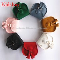 Wholesale Leather Purses Small Cheap - Kidsbuy So Cheap! Children's Fashion Tassel shoulder Bags Kids Small Leather Purse Baby girls Small Messenger Bag Kids Brand new bags KB015