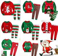 Wholesale Childrens Christmas Sleepwear - Baby Sleepwear Autumn Outfit Child Leisurewear Suit Cotton Baby Pajamas Christmas Children Long Sleeve Childrens Clothes Nightwear