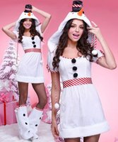 Cosplay de Noël pour les femmes Snow White Penguin Suit Costume de Bonhomme de neige Sexy Costume Halloween Costume Sexy Robes