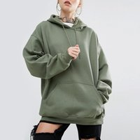 Wholesale Bamboo Batting - Autumn and winter European and European new and loose pure color sports hooded bat-sleeved garment
