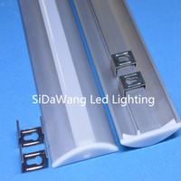 Wholesale 1w Led Pcb - 10pcs(20m);2m per piece led Recessed aluminum profile for 10mm width PCB 5050 led strip DIY5208-2M;Floor led aluminum extrusion