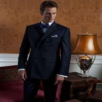 ingrosso su misura suiting-All'ingrosso-2016 uomini moderni Suit Business Abiti su misura Trajes De Novio Groomsmen Tuxedo Bespoke Wedding M350 (Jacket + Pants)