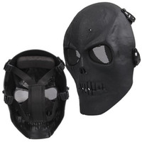 Wholesale military mask skull - NHBR Airsoft Mask Skull Full Protective Mask Military - Black