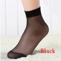 Wholesale Sexy Low Cut Socks - Wholesale-10 Pairs New Sexy Women's Ultra Thin Silk Girl Short Ankle Low Cut Socks
