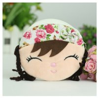 Wholesale Metoo Angela Bags - Wholesale- Kawaii Little Angela Metoo Doll Plush Doll Coin Purse Children's Small Mobile Phone Bag coin purse Admission package Retail