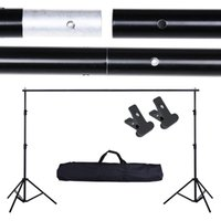 Wholesale Computer Backdrops Photos - 10Ft Adjustable Background Support Stand Photo Backdrop Crossbar Kit Photography