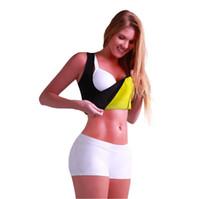 Wholesale Slimming Abdomen - Free Shipping Sexy Shaper Shirt Women Neoprene Slimming Shaper Hot Shapers sweat Shirt Redu Tops Chest Abdomen Bodysuit Vest underwear