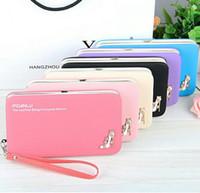 Wholesale cellphone purses - Designer Wallets Famous Brand Baellerry Women Wallet Fashion Women's Long Luxury PU Leather Solid Handbag Lady Clutch Purses Cellphone Bag