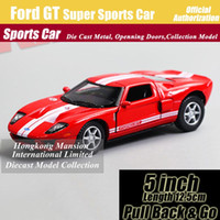 Wholesale ford toy cars for sale - Group buy 1 Scale Diecast Alloy Metal Super Sports Car Model For Ford GT Collectible Model Collection Pull Back Toys Car