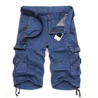 Wholesale Military Shorts Pants - Wholesale-Cargo Men Shorts Casual Camouflage Summer Men Short Pants Military Camou Gym Clothing Shorts Homme Cotton Loose Cargo Shorts Men