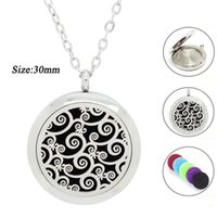 Wholesale vine necklace for sale - Group buy New arrival L Stainless Steel Essential Oil Diffuser Necklace for Women Flower Vine Perfume Locket with pads Aroma pendant