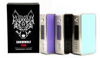 Wholesale Electronic Cigarette W Box - Min.2pcs Snowwolf Mini 75W TC Box Mod Electronic Cigarette Sigelei Mini Snow Wolf 75 W Mods Blue&Black Colors vs iStick Pico Vapor