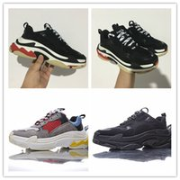 Wholesale Men S Lace - 2017 new Unveils New Triple S Sneakers,High Fashion Spec Trainers,Shoes for Men,Running Man Shoe,men Tripe-S retro Training Sneakers Shoes