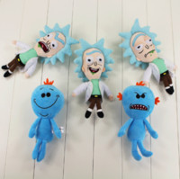 Wholesale Great Q version Rick and Morty Happy Sad Mr Meeseeks stuffed plush toy