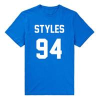 Wholesale Cool 1d - Harry Styles 94 Men T Shirt One Direction 1D Music Tour Fan D.O.B Cotton Hip Hop Cool Sport T-shirt Plus Size Camisetas MTS033