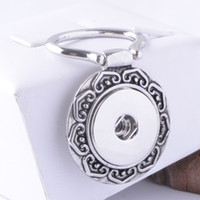 Wholesale Key Brooches - Ancient Silver Magnetic Eyeglass Holder Magnetic Id Badge Holder Name Tag Holder Magnetic Brooch For 18MM Snap Button Charm