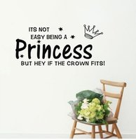 Wholesale Baby Quote Wall Decals - Details about Not Easy being a Princess baby Decor vinyl wall decal quote sticker removable Q4