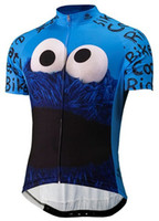 Wholesale Exercise Bicycles - 2017 summer men cookie bicycle exercise cycling clothing thin wicking cycling jersey 2XS-6XL