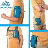 Wholesale Arm Wallets - AONIJIE Arm Bags For Outdoor Running Coins Purse Sports Phone Mobile Wallet Key Package With Arm Shoulder Strap Free shipping