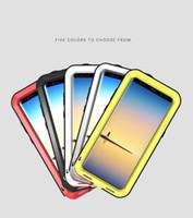 caja del teléfono nota de aluminio al por mayor-Estuche de metal + silicona para Samsung Galaxy Note 8 Estuche Love Mei potente estuche de aluminio cubierta de la caja del teléfono Fundas