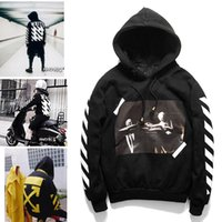 Wholesale OFF WHITE Men s Fashion Hoodies Autumn and Winter Long Sleeve Casual Hoodie Sport Outdoor Coat Religion Fleece Print Sweatshirts