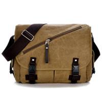 Wholesale Shoulder Tablet - Men's Canvas Messenger Bag Casual Crossbody Bag Shoulder Bag Women Vintage Satchel Laptop Bag Tablet Sleeve C055