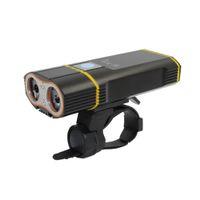 döngü ateş toptan satış-KC YANGıN USB Şarj Edilebilir Süper Parlak 2400 Lümen Cree XML-L2 LED Su Geçirmez Bisiklet Far Kurulum Bisiklet El Feneri