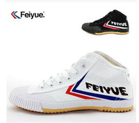 Wholesale Us8 Female Male - free shipping Feiyue Canvas shoes for male and female senior tennis shoes, casual shoes, canvas shoes couple high-top sneakers 1pairs lot