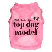 Wholesale Dog Cooling Jacket - Cool Summer America's Next Top Dog Modle Apparel Fashion Cute Dog Vest Pet sweater Puppy Shirt Soft Coat Jacket Dog Cat Clothes