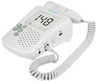 Wholesale Home Use Doppler - Professional Home Use Large LCD Screen Back light Ultrasound Fetal Doppler Baby Heart Rate Monitor Prenatal Detection Device