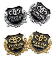 Wholesale Toyota Camry Badges - car styling Toyota corolla avensis camry RAV4 metal Badge sticker modified standard column car accessories