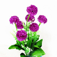 Wholesale French Marigold Flower - Bunch of Artificial Flowers Simulation French Marigold Tagetes for Home Bonsai Decoration Nice Silk Flowers Bouquet