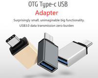 Wholesale Usb Otg Cable Adapter - Metal USB 3.1 Type C OTG Adapter Male to USB 3.0 A Female Converter Adapter OTG Function for Macbook Google Chromebook