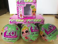 Wholesale Retail Gift Packaging - Lil Sisters Series 2 Gift LOL Surprise Doll Ball Discolor Toy With Retail Packaging 7.5cm Diameter LOL Ball Toys Gifts