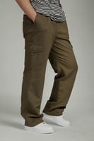 Wholesale Denim Fat Pants - 2017 New Plus Size Hip Hop Dance Loose Male Pants Casual Fashion Big Fat Man Cargo Pants Male Comfortable Cotton Men's Trousers 4XL 5XL 6XL