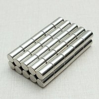 Wholesale Cylinder Magnets - 50pcs N52 Strong Neodymium Magnets Discs Cylinder Rare Earth 6x10mm