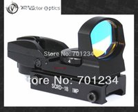 Wholesale Multi Reticle Scope - Free Shipping Vector Optics 1x23x34 Multi Reticle Reflex Red Dot Scope Sight with 20mm Weaver or 11mm Dovetail Mount Base