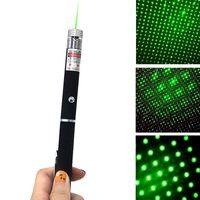 Wholesale Starry Sky Laser - 1 IN 2 Laser Pointers High Power Starry Sky Pattern GreenRed Purpler Visible Beam Laser Pointer Pen