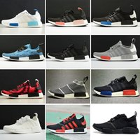 Wholesale Clear Floor Runner - 2017 NMD Runner R1 Primeknit OG Black Triple White Nice Kicks Circa Knit Men Women Running Shoes Sneakers Classic sport Shoes size 36-44