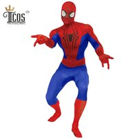 All'ingrosso-il costume cosplay pazzeschi Ones Man Amazing Spiderman per adulti Lycra Nylon Spandex Suit Zentai di un pezzo di Halloween Spider-Man Collant