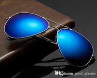 Wholesale Sun Glasses Blue Round - New Best Sunglasses Pilot 62mm for Men Women UV400 Brand Designer Mirrored Gafas Mirror Ladies Driving Sun Glasses Top with cases Cheap sale