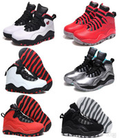 Wholesale Over Tops - Cheap Top quality retro 10 men basketball shoes steel bobcats powder blue bulls over broadway double nickel chicago sport sneaker Boots