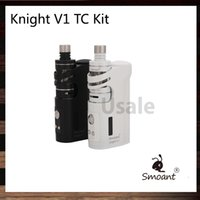 Kit Kit Knight V1 TC con 60 Watt Side-By-Side Cavalletto V1 TC Modulo Pocket Box Modello 4.5ml Top-Filling Talos V1 Tank 100% Original
