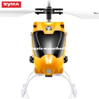 Original Syma Entry Level RC Helicopter Alloy Body Anti-Shock Controle Remoto UAV com 6-Axis Gyro Led Shinking Toy para Crianças