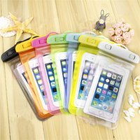 Wholesale waterproof case bag for galaxy resale online - 2016 Waterproof Pouch Universal Phone Bag Clear Transparent Swim Diving Case Cover For S6 iPhone Galaxy S5 S4 Note With Free DHL