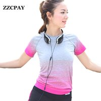 Wholesale Sport Short Pants For Women - Wholesale-2016 Summer New Fashion Female T-Shirts Tops Short Sleeve Cotton Tops For Women Clothing Sports Running Fitness Yoga Clothes
